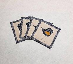 Úžitkový textil - Podložky  s vtáčikom - 11447439_