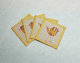 Úžitkový textil - Podložky  s vtáčikom - 11447458_