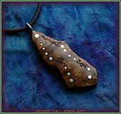Náhrdelníky - 572. dřevěný náhrdelník OLIVOVNÍK - 11446128_
