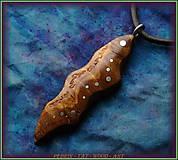 Náhrdelníky - 573. dřevěný náhrdelník OLIVOVNÍK - 11446132_