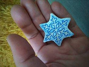 Magnetky - Snehová vločka.... - 11445583_
