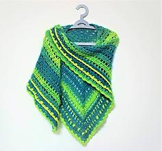 Šatky - Háčkovaný šátek 2107 - 11445441_