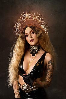Náhrdelníky - Čipkovaný čierny Choker náhrdelník s retiazkou - 11446227_