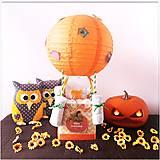 Detské doplnky - Plienková torta BALÓN oranžová (sezónna) - 11446874_