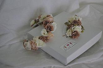 """Detské doplnky - Set mama a dcéra """"zlaté ružičky"""" - 11446289_"""