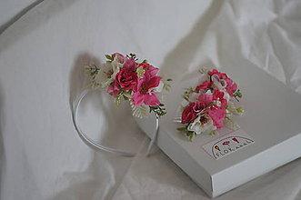 """Detské doplnky - Set mama a dcéra """" ružový čerešňový kvet"""" - 11446305_"""