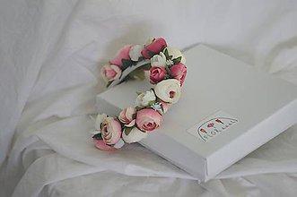 """Detské doplnky - Detská kvetinová čelenka """"ružové pivónky"""" - 11446355_"""