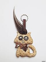 Prívesok na kľúče - strapatá mačička