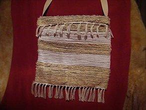 Iné tašky - Tkaná taška krémovo-bielo-sivá - 11447963_
