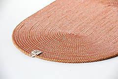 Úžitkový textil - Běhoun oranžový - 11450792_