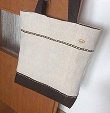 Nákupné tašky - ľanová taška stužka - 11448705_