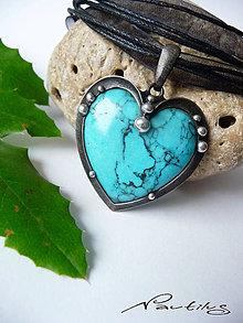 """Náhrdelníky - Cínový šperk """"Modré z neba"""" - 11449466_"""