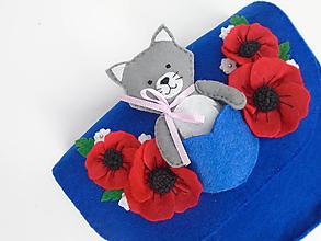 Detské tašky - Moja prvá kabelka s hračkou (s mačičkou) - 11448953_