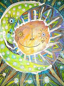 Kresby - Slnko a mesiac... - 11448630_