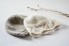 Detské čiapky - Čiapka pre bábätko - prírodná - 11449626_