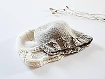 Detské čiapky - Čiapka pre bábätko - kamenná - 11449649_