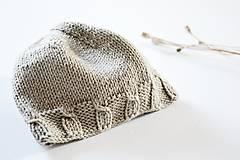 Detské čiapky - Čiapka pre bábätko - kamenná - 11449650_