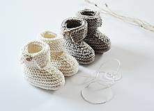 Topánočky - Papučky pre bábätko - natur - 11449701_