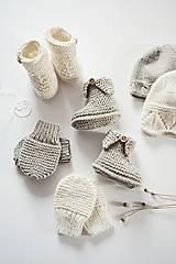 Topánočky - Papučky pre bábätko - natur - 11449702_