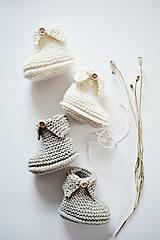 Topánočky - Papučky pre bábätko - natur - 11449703_