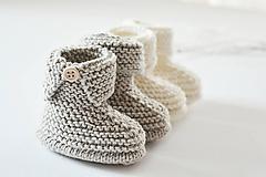 Topánočky - Papučky pre bábätko - 11449718_