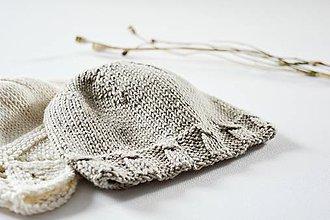 Detské čiapky - Čiapka pre bábätko - kamenná - 11449646_