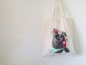 """Nákupné tašky - EKO taška """"medvedia pohoda"""" - 11449201_"""