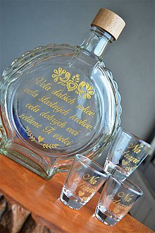 Nádoby - Fľaša zlatá sada - 11450965_
