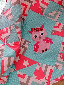 Textil - Soví holčička s pírkem - 11448437_