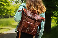 Batohy - Eritrea - kožený ruksak - 11450963_