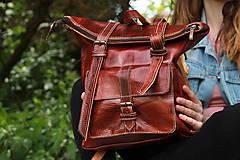 Batohy - Eritrea - kožený ruksak - 11450964_
