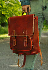 Batohy - Guinea - kožený ruksak - 11450969_