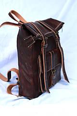Batohy - Maroko - kožený ruksak - 11450982_