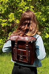 Batohy - Maroko - kožený ruksak - 11450983_