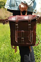 Batohy - Maroko - kožený ruksak - 11450985_