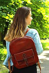 Batohy - Maurícius - kožený ruksak - 11450995_