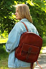 Batohy - Maurícius - kožený ruksak - 11450996_