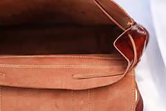 Batohy - Zambia - kožený ruksak - 11451022_