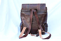 Batohy - Kongo - kožený ruksak - 11451026_