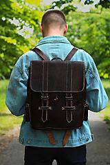 Batohy - Kongo - kožený ruksak - 11451027_