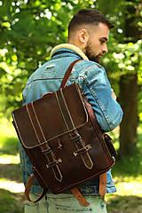 Batohy - Kongo - kožený ruksak - 11451028_