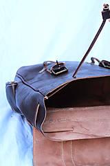Batohy - Kongo - kožený ruksak - 11451029_