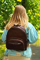 Batohy - Keňa - kožený ruksak - 11451052_
