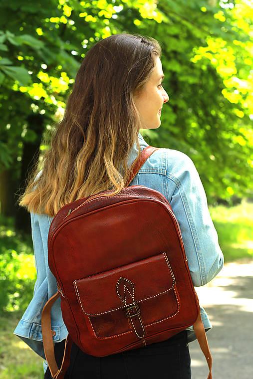Maurícius - kožený ruksak