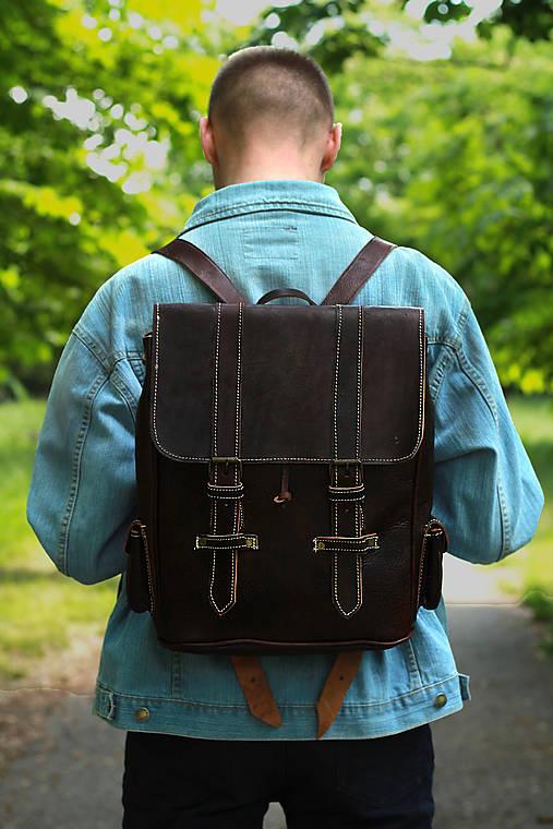 Kongo - kožený ruksak