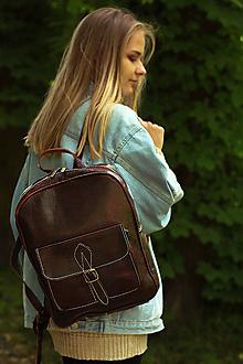 Batohy - Mozambik - kožený ruksak - 11451004_