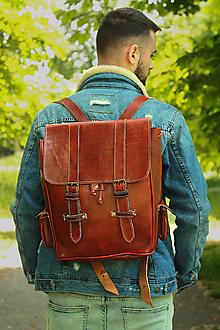 Batohy - Zambia - kožený ruksak - 11451019_