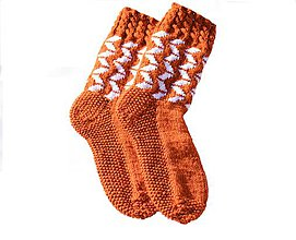 Obuv - ponožky s nórskym vzorom pre pánov  ( v.42-43) - 11448998_