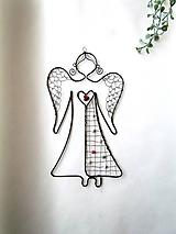 Dekorácie - anjel s perličkami - 11448317_