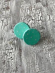 Náušnice - KARKULKY-veľké bodkované ďobky (Tyrkysová) - 11448532_